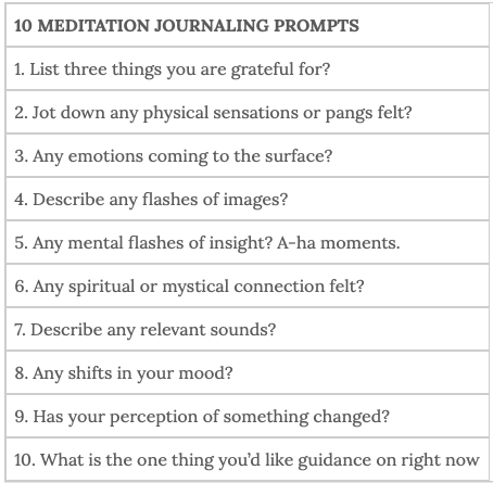 examples of meditation journaling prompts