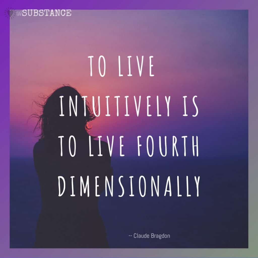 To live intuitively is to live fourth dimensionally, quote by Claude Bragdon