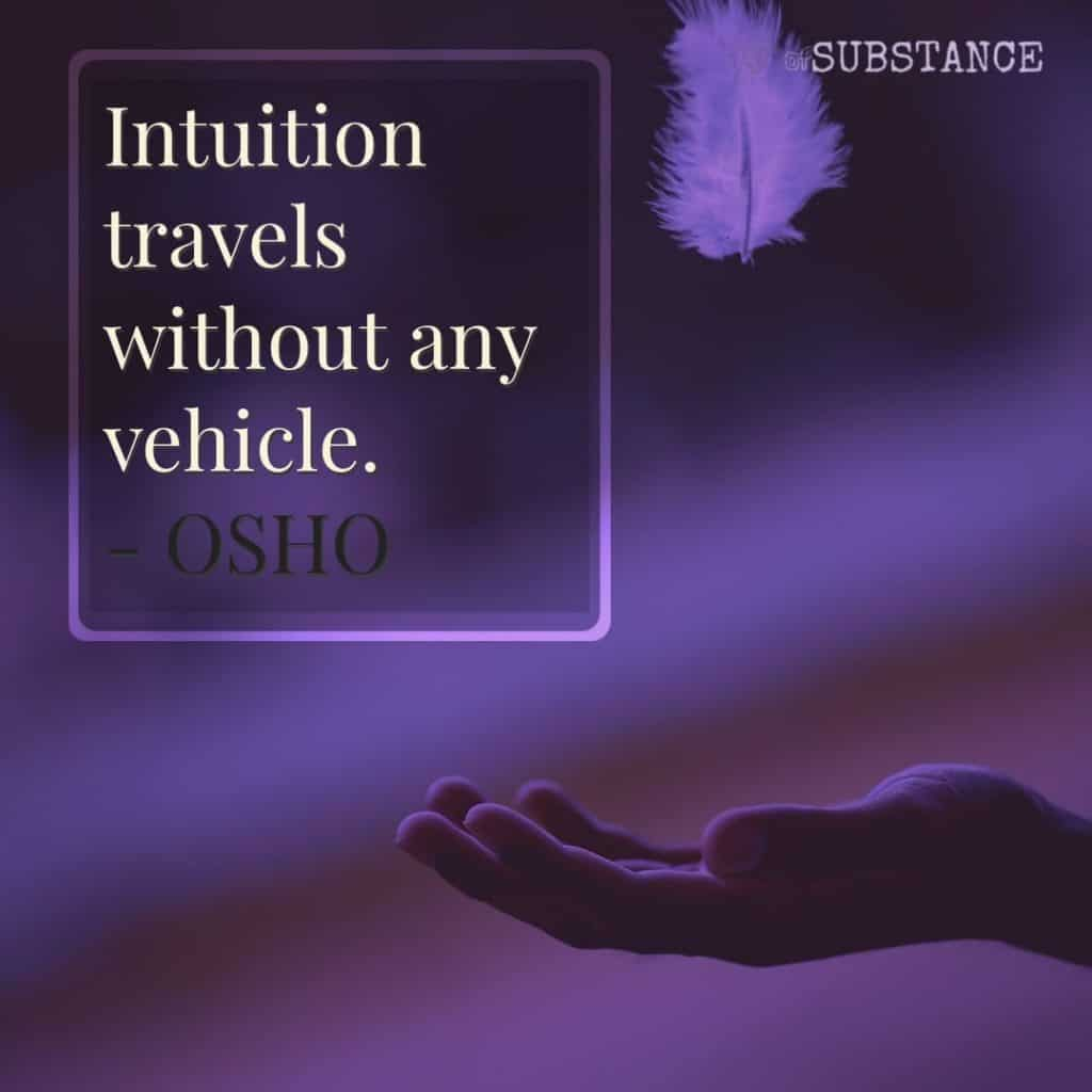 Reading someones mind is like intuition travels without any vehicle