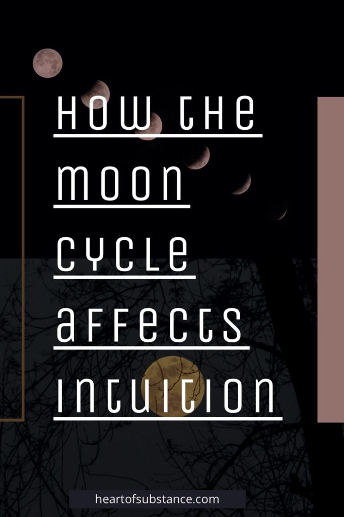 About the Moon and Intuition. How the moon cycle affects intuition. Why the moon might correlate with intuition. Hearsay or proven examined where the Moon's phases are said to represent emotional states.